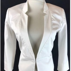 Express 3/4 Sleeve White Lined Blazer